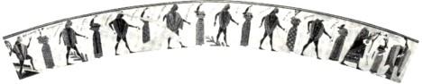 Ο χορός Γερανός, όπως εικονίζεται στο αγγείο του François